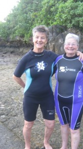 Tanya and Charmaine go snorkelling