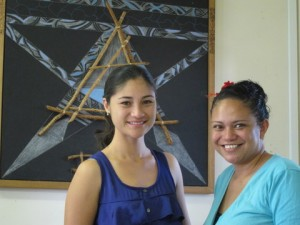 Vanessa and Moka in Tourism Office