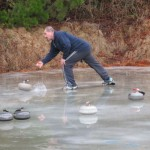 Curling in and out in Naseby