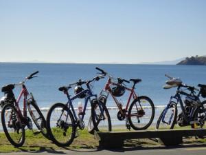 Bikes at Onetangi WTNZ