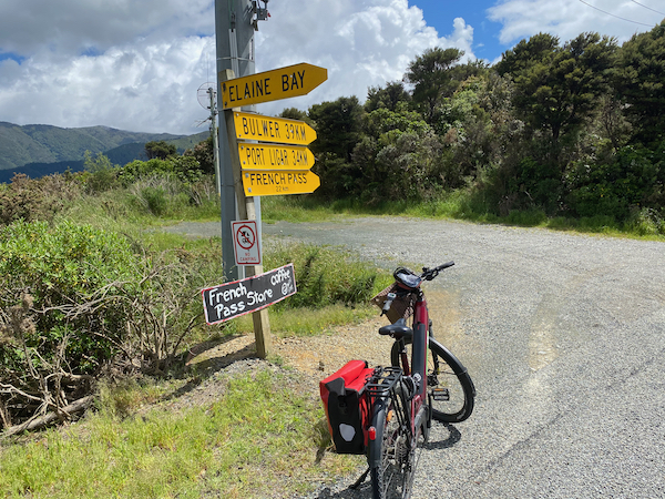 Cycling French pass and elaine bay Marlborough sounds