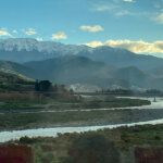 Kaikoura Moutains with snow at the Clarence River