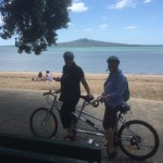 Cycle Devonport - looking at Rangitoto Island