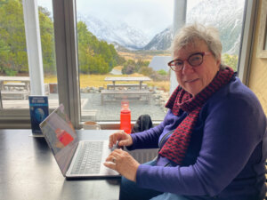 Rosemary at Aoraki - best office view