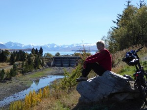 Biking around Tekapo