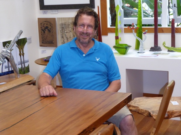 Peter Brown - artist and owner of Helena Bay Gallery