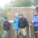 A misty day and lunch stop on the Banks Peninsula Track
