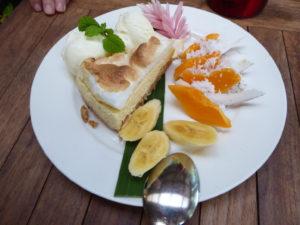 Cheese cake at Hidden Spirit Cafe rarotonga