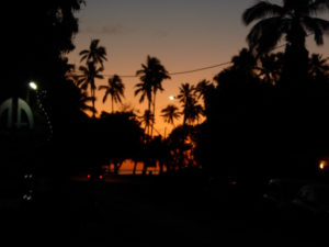 Sunset from Vaima Restaurant, Rarotonga