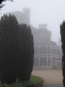 Larnach Castle through the mist