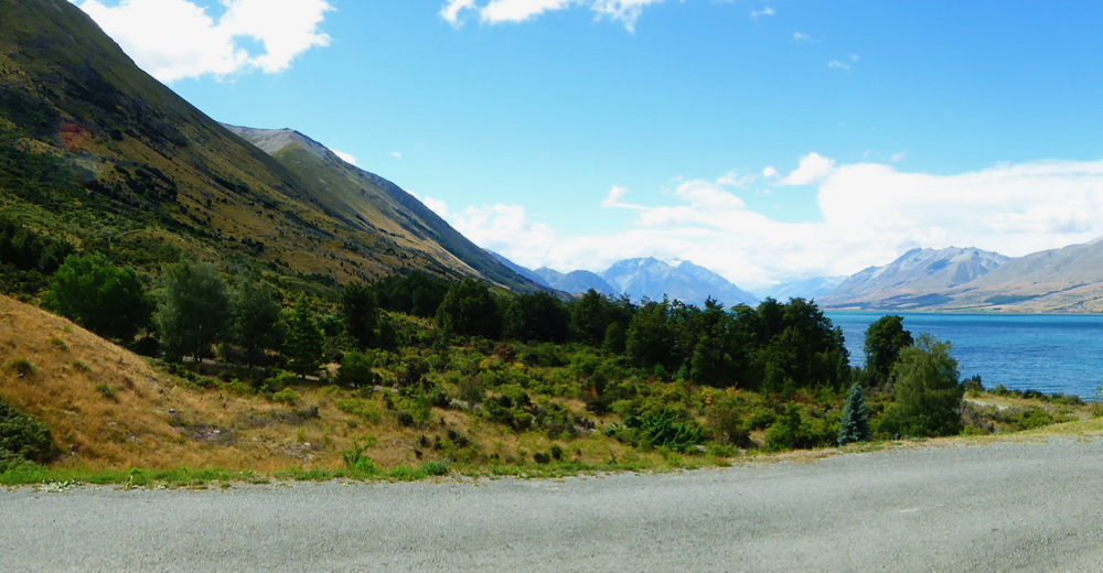 Lake Ohau on Alps to Ocean Cycle Trail