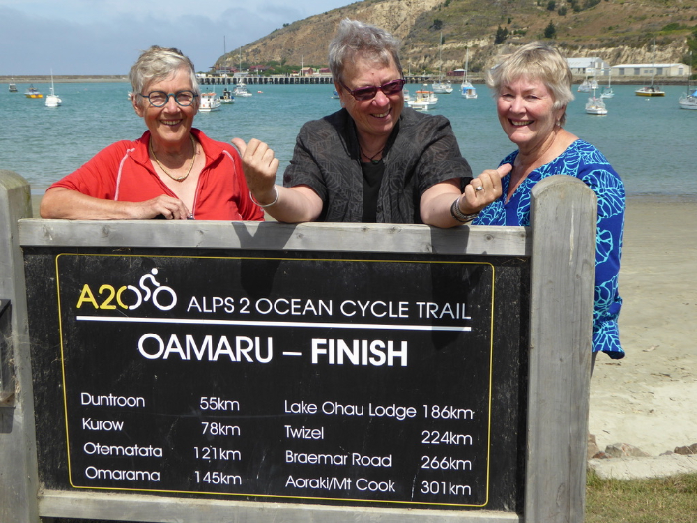 Alps to Ocean Cycle trail - the end of the trail in oamaru