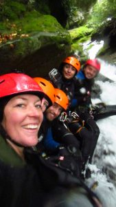 Renee with guests at Wanaka Canyoning